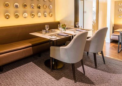 Banquette Seat & Dining Tables